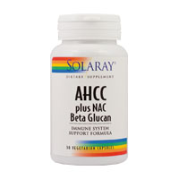 AHCC plus NAC & Beta Glucan 30 cps, Solaray