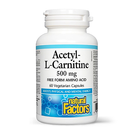 Acetyl-L-Carnitine (ALC) 500mg 60 cps, Natural Factors