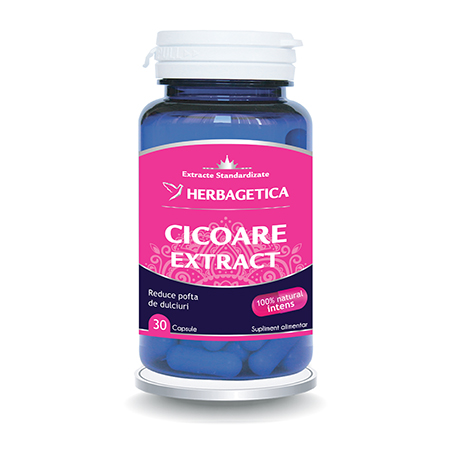 Cicoare Extract 30 cps, Herbagetica