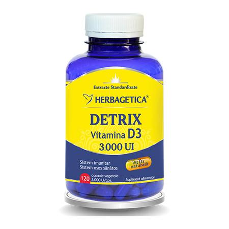Detrix Vitamina D3 3000 UI 120 cps, Herbagetica