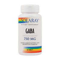Gaba 750mg 60 cps, Solaray