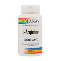 L-Arginine 1000mg 30 tbl, Solaray