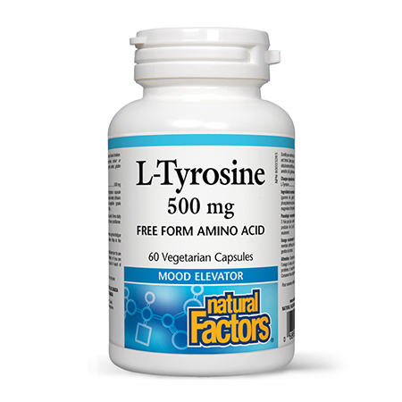 L-Tirozina (L-Tyrosine) 500mg 60 cps, Natural Factors