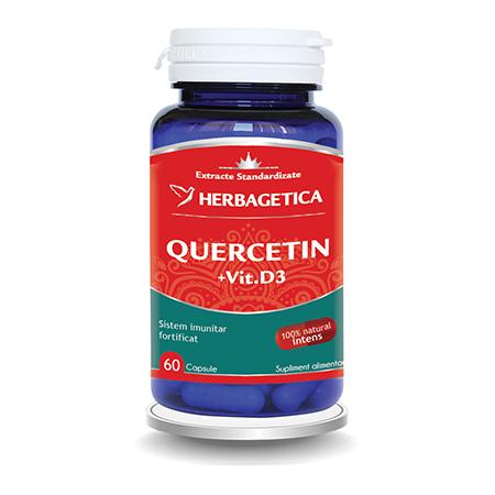 Quercetin cu Vitamina D3 60 cps, Herbagetica