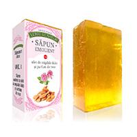 Sapun emolient cu ulei de migdale dulci si parfum de roze 100 g