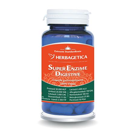 Super Enzime Digestive 60 cps, Herbagetica