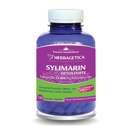 Silymarin Detox Forte 120 cps, Herbagetica