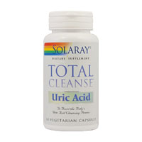 Total Cleanse Uric Acid 60 cps, Solaray