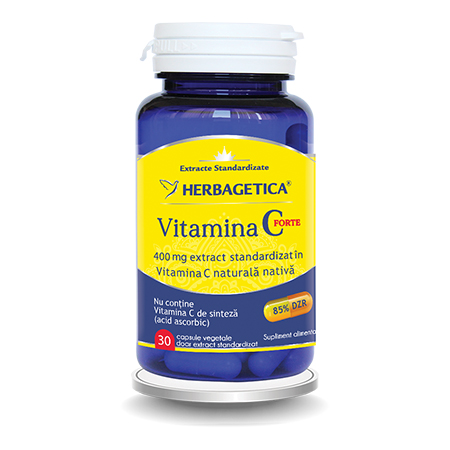 Vitamina C Forte 30 cps, Herbagetica