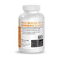 Acid Folic + B12 60 cps, Bronson