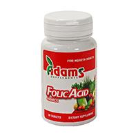 Acid Folic 400mcg 30 tbl, Adams Vision