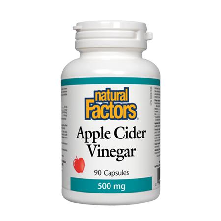 Apple Cider Vinegar (concentrat din otet cidru de mere) 500mg 90 cps, Natural Factors