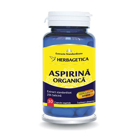 Aspirina Organica 30 cps, Herbagetica