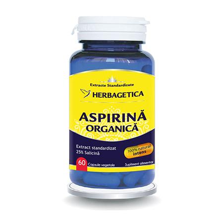 Aspirina Organica 60 cps, Herbagetica