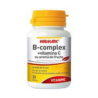 B Complex + vitamina C 30 tb, Walmark