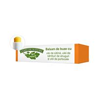 Balsam de buze cu ulei de catina, ulei din samburi de struguri si ulei de portocale 4.8g, Manicos