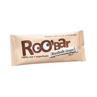 Baton raw bio cu baobab si ghimbir 30 g, Roobar