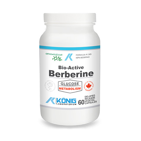 Bio-Active Berberine (Berberina) 60 cps cu eliberare intarziata, Konig