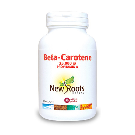 Beta Caroten Forte 25.000 UI 90 cps, New Roots