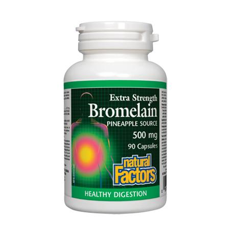 Bromelain (Bromelaina) forte 500mg 90 cps, Natural Factors