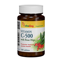 Vitamina C 500mg  cu macese 100 cpr, Vitaking