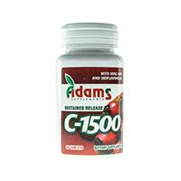 Vitamina C-1500 cu macese 90 tab, Adams Vision