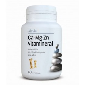 Ca-Mg-Zn Vitamineral 60 cp