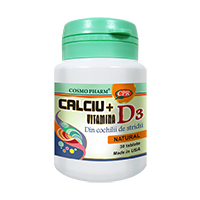 Calciu + Vitamina D3 30 tb