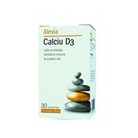 Calciu D3 (formula citrat) 30 cp, Alevia