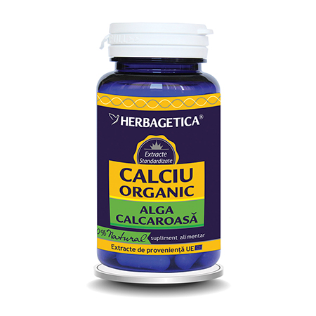 Calciu Organic Alga calcaroasa 30 cps, Herbagetica