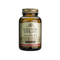 Calciu Citrat cu Vitamina D3 60 tbl, Solgar