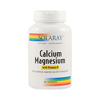 Calcium Magnezium with Vitamin D 90 cps, Solaray