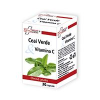 Ceai verde cu Vitamina C 30 cps, Farmaclass