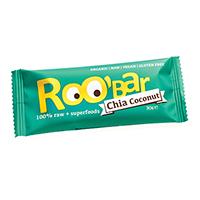 Baton raw bio cu seminte de chia si cocos 30 g, Roobar