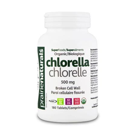 Chlorella 500 mg 180 tbl, Prairie Naturals