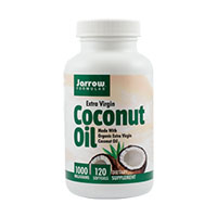 Coconut Oil Extra Virgin 1000mg 120 cps, Jarrow Formulas