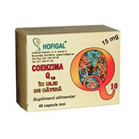 Coenzima Q10 in ulei de catina 15mg 40 cps, Hofigal