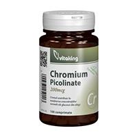 Picolinat de crom 200mcg 100 cpr, Vitaking