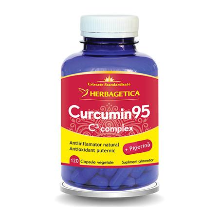Curcumin 95 C3 Complex 120 cps, Herbagetica