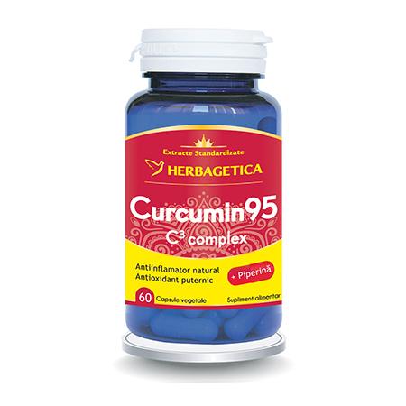 Curcumin 95 C3 Complex 60 cps, Herbagetica