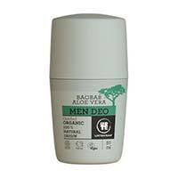 Deo roll bio organic cu aloe vera si baobab pentru barbati 50ml, Urtekram