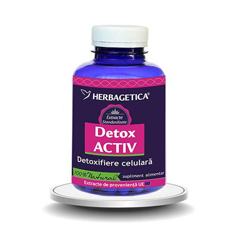 Detox Activ 120 cps, Herbagetica