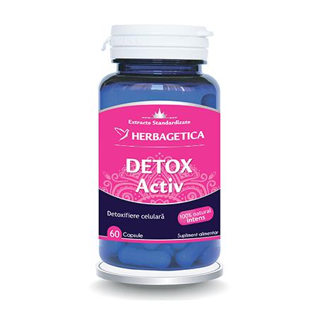 Detox Activ 60 cps, Herbagetica