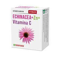 Echinacea + Zinc + Vitamina C 30 tb, Parapharm