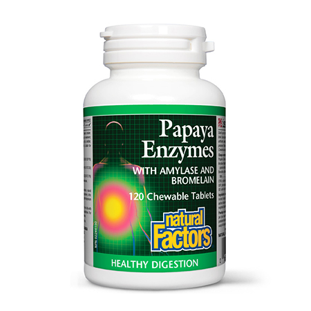 Enzime din Papaya 120 tbl, Natural Factors