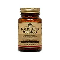 Folacin (Folic Acid) 800μg 100 tbl, Solgar
