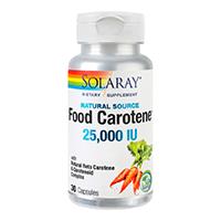 Food Carotene 25000UI 30 cps, Solaray