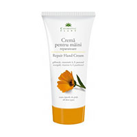 Crema pentru maini reparatoare cu extract de galbenele si vitaminele A, F, si pantenol 150ml, Cosmetic Plant