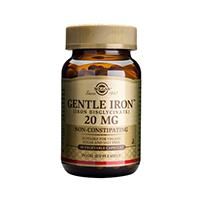 Fier cu actiune blanda (Gentle Iron) 20 mg 90 cps, Solgar