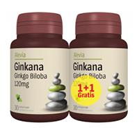Ginkana (Ginkgo biloba) 120mg, 30 cps+30 cps gratis, Alevia